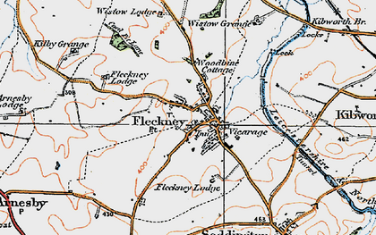 Old map of Wistow Grange in 1920