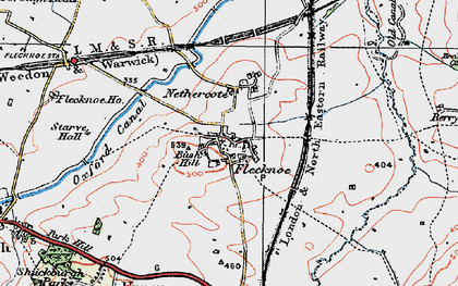 Old map of Berry Fields in 1919