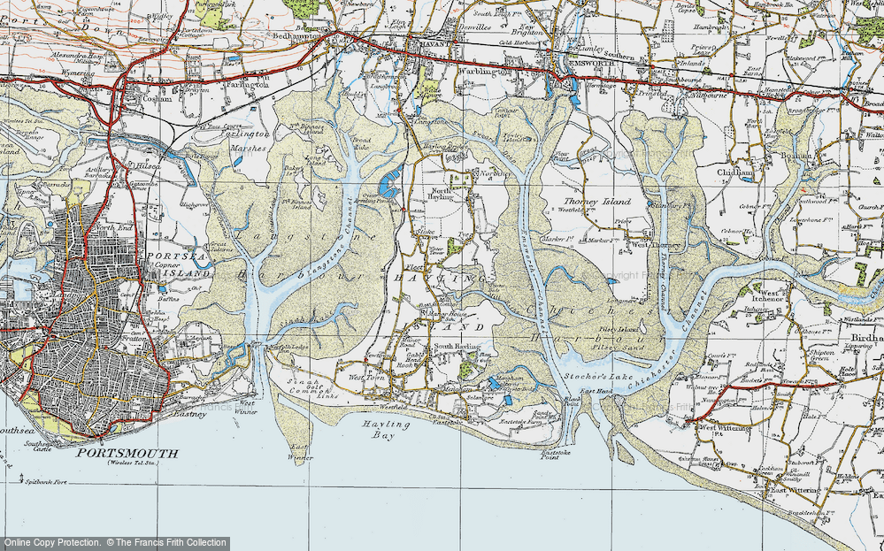 Map Of Hayling Island Old Maps of Hayling Island   Francis Frith