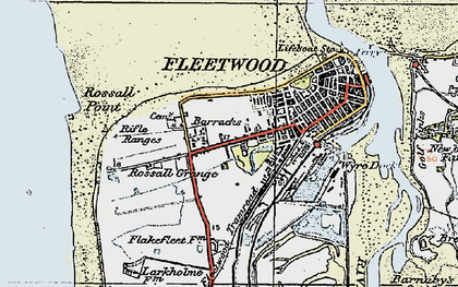 Old map of Fleetwood in 1924
