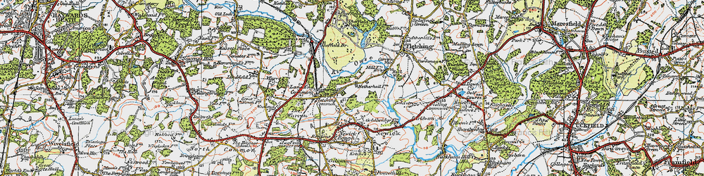 Old map of Lane End Common in 1920