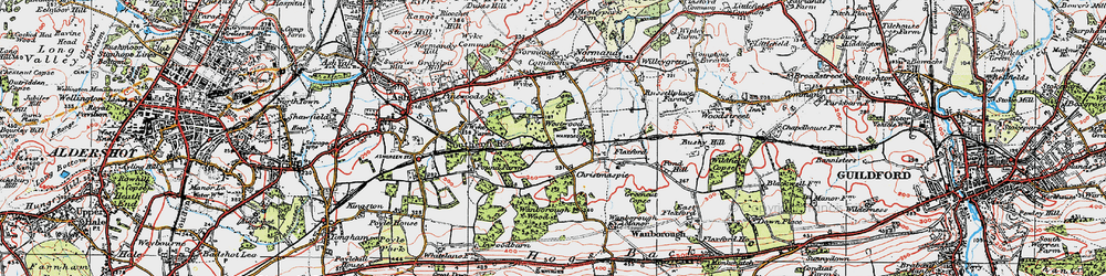 Old map of Westwood Place in 1920