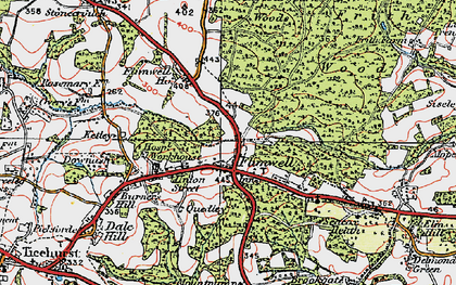 Old map of Flimwell in 1921
