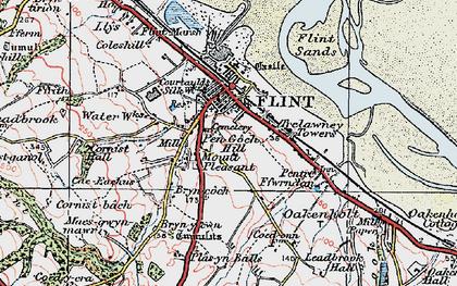 Old map of Flint in 1924