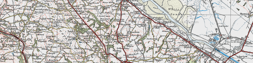 Old map of Flint Mountain in 1924