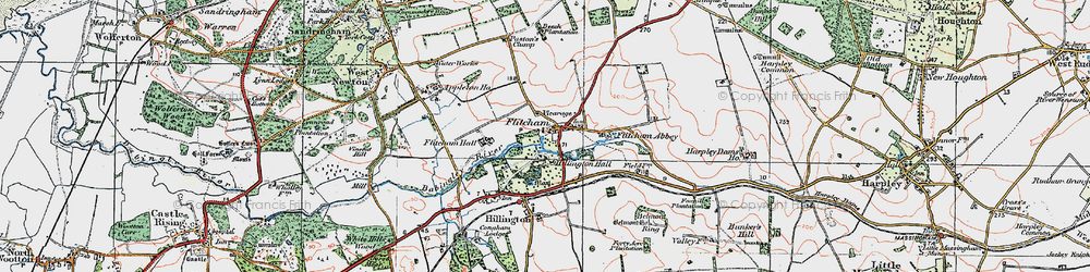 Old map of Westwood Belt in 1921