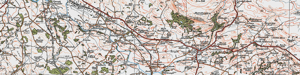 Old map of Toddygill Hall in 1925
