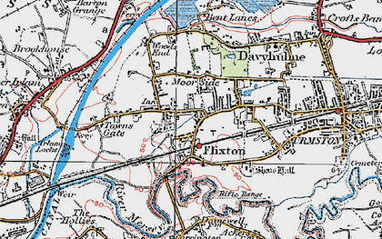 Old map of Flixton in 1924