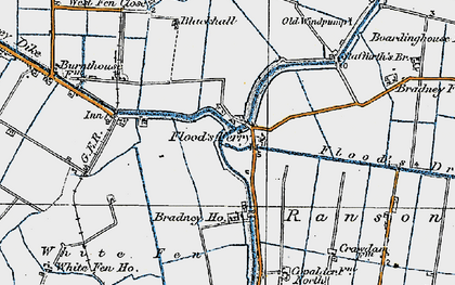Old map of White Fen in 1920
