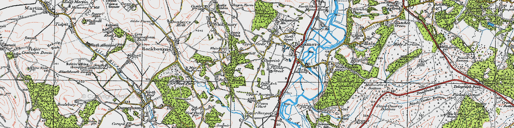 Old map of Whitsbury Common in 1919