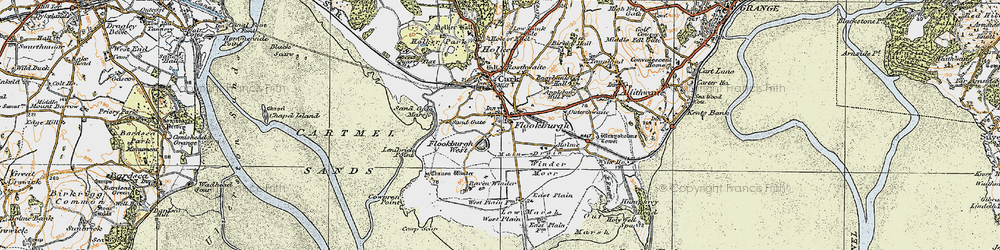 Old map of Winder Moor in 1925
