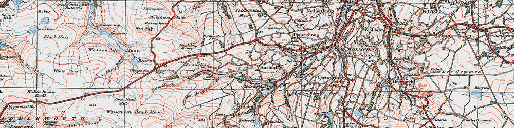 Old map of Wood Cottage in 1924
