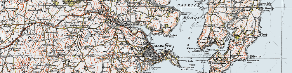 Old map of Flushing in 1919