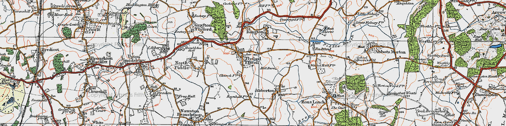 Old map of Wychavon Way in 1919