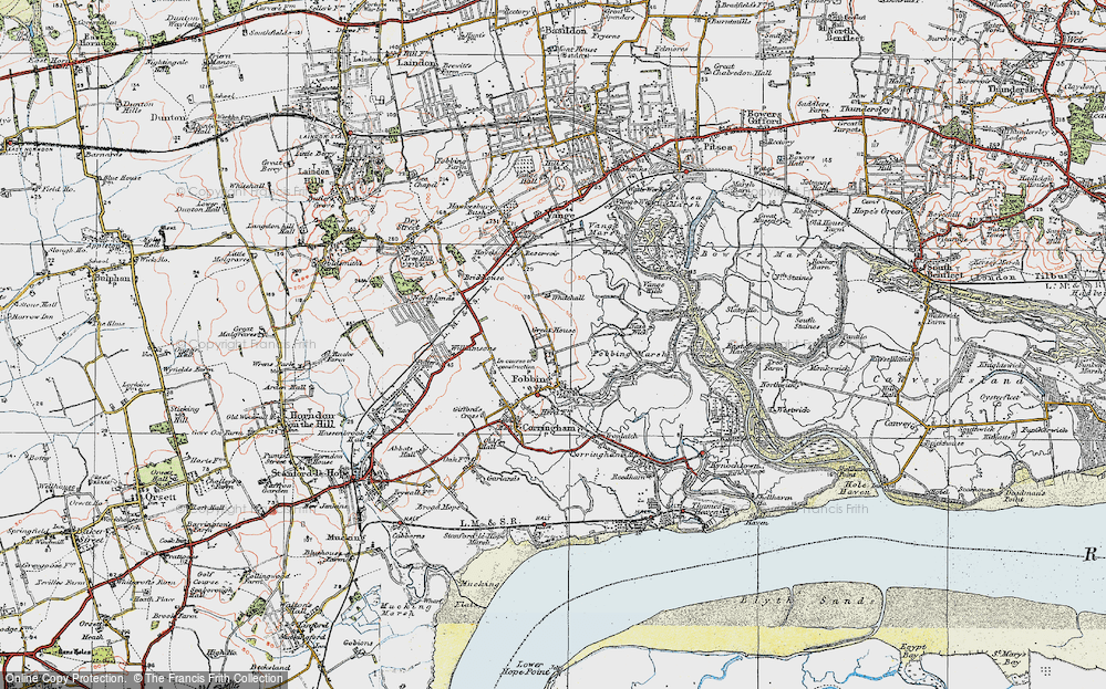 Old Map of Fobbing, 1921 in 1921