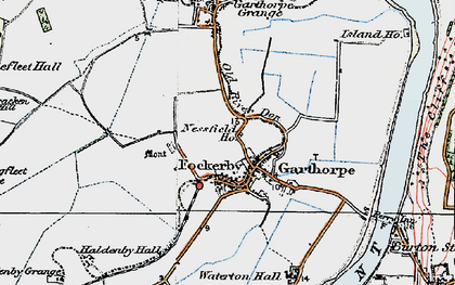 Old map of Fockerby in 1924