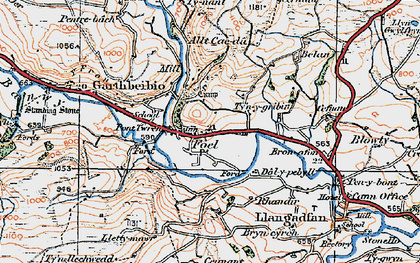 Old map of Allt Cae-dû in 1921