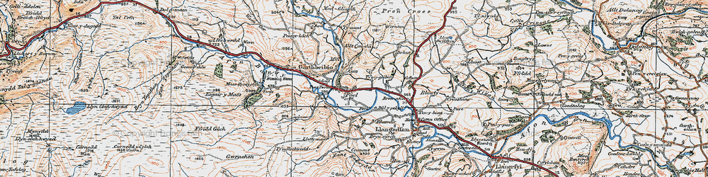 Old map of Y Fron in 1921