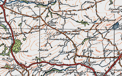 Old map of Wîg in 1923