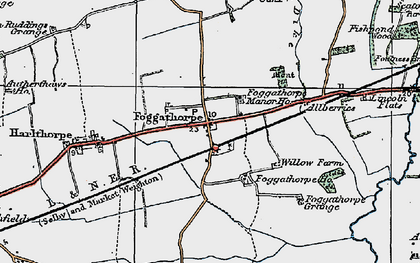 Old map of Allberries in 1924