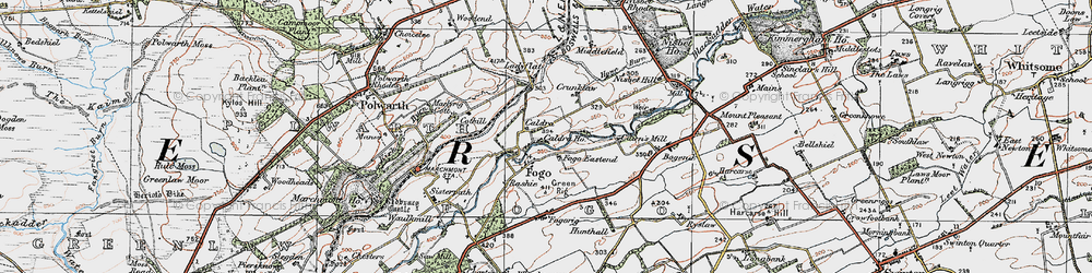 Old map of Whinkerstones in 1926
