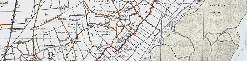 Old map of Abbey Hills (Earthworks) in 1923