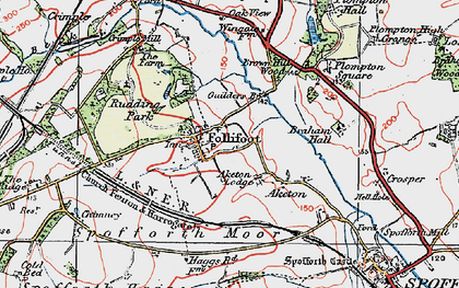 Old map of Aketon in 1925