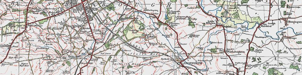 Old map of Aketon Lodge in 1925