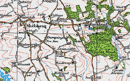 Old map of Backway in 1919