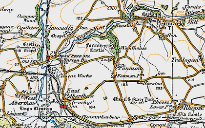 Old map of Fonmon in 1922