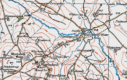 Old map of Fonston in 1919