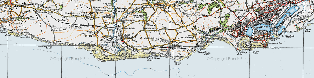 Old map of Font-y-gary in 1922