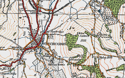 Old map of Sudeley Castle in 1919