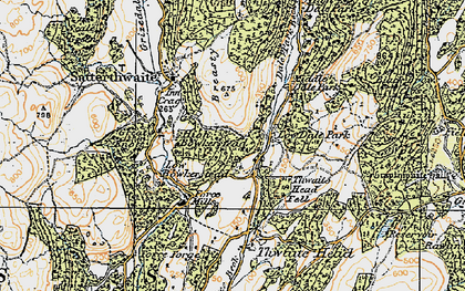 Old map of Ausin Fell Wood in 1925