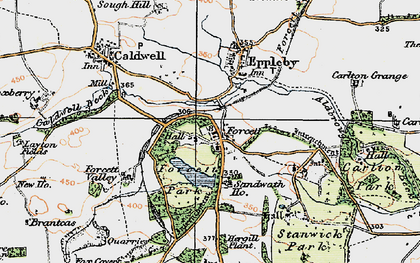 Old map of Forcett in 1925