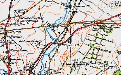 Old map of Ford in 1919