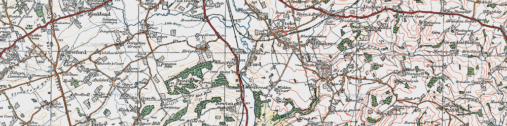 Old map of Wharton Court in 1920