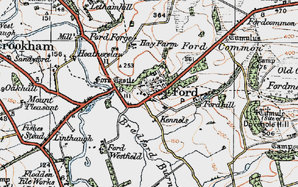 Old map of Ford in 1926