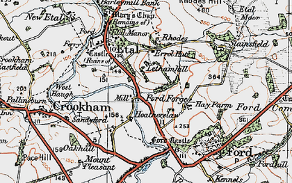Old map of Lethamhill in 1926
