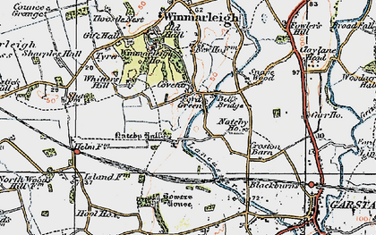 Old map of Whitters Hill in 1924
