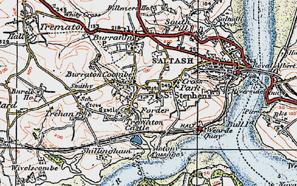 Old map of Forder in 1919
