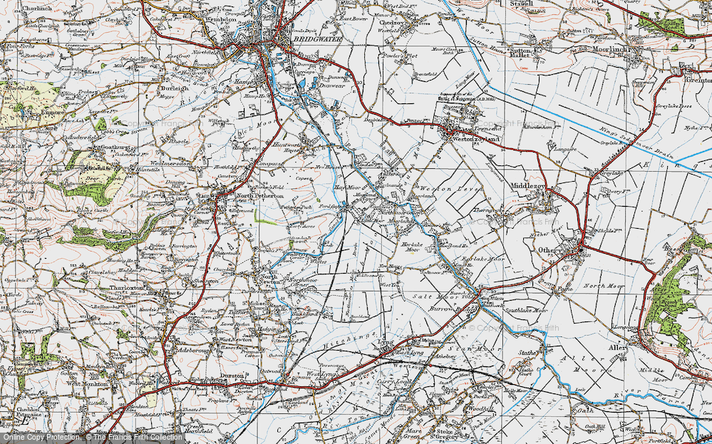 Old Map of Fordgate, 1919 in 1919