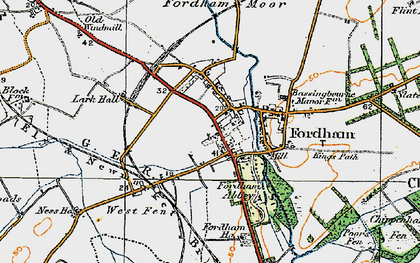 Old map of Fordham in 1920