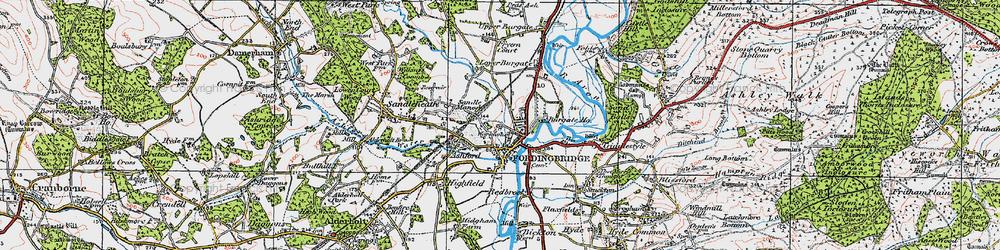 Old map of Fordingbridge in 1919