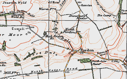 Old map of Lang Dale in 1925