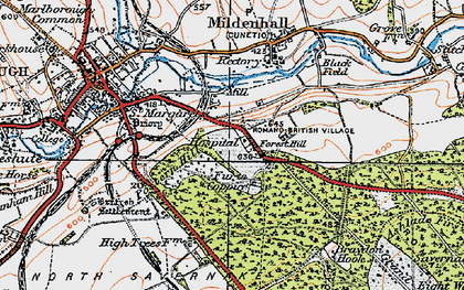 Old map of Forest Hill in 1919