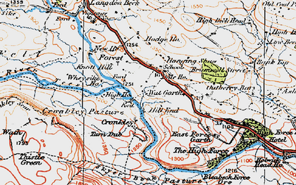 Old map of White Well in 1925