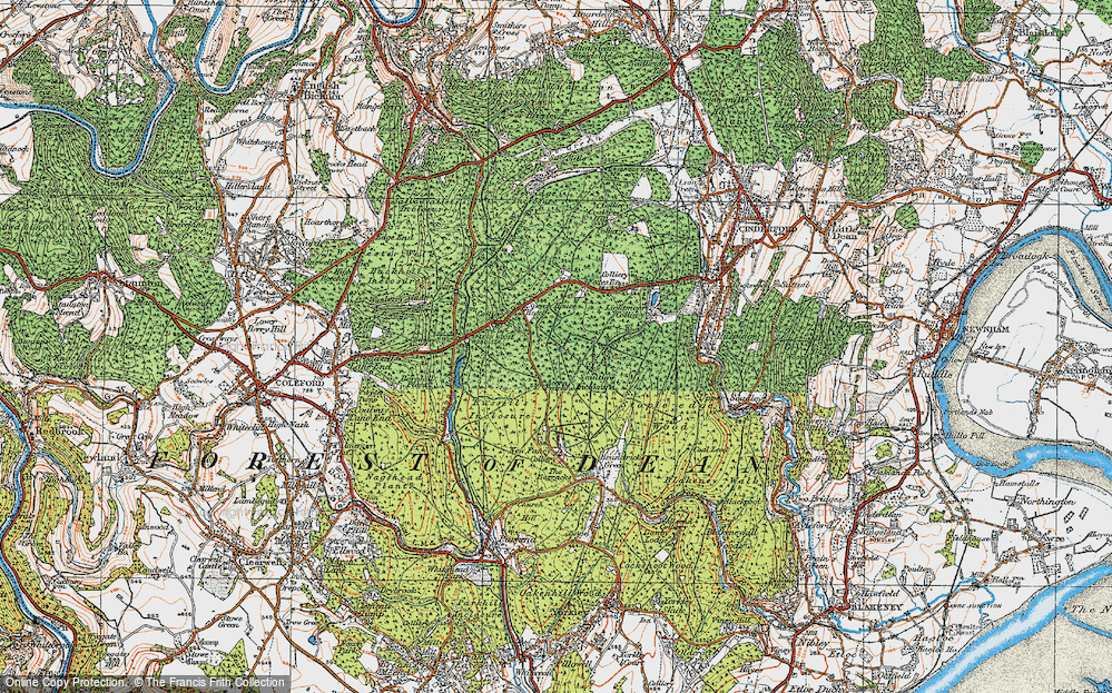 Forest Of Dean Map Map of Forest of Dean, 1919   Francis Frith