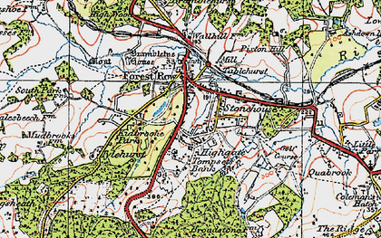 Old map of Forest Row in 1920