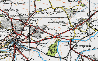 Old map of Forewoods Common in 1919